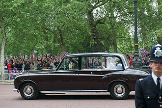 Rolls-Royce Phantom VI - 1977 Silver Jubilee car carrying Kate Middleton