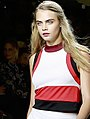 Cara Delevingne During LFW SS15 (cropped).jpg