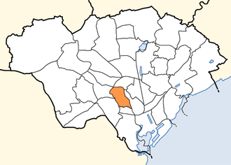 Pontcanna - Location of the post-2016 Pontcanna community within Cardiff