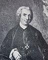 Carl von Linné avbildad i kopparstick eftet måning av JM Preisler, JH Scheffel.jpg