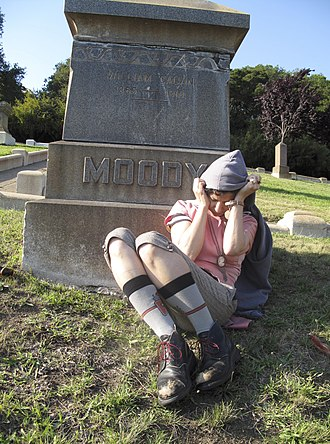 Carla Bozulich - Carla Bozulich at Mountain View Cemetery in Oakland, California 2014. Photo by Jennifer Kitner