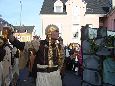 Roll reversal and suspension of social norms is part of the origin of the carnaval