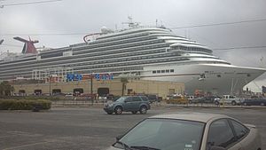 Carnival Magic - Image: Carnival Magic, in port Galveston, TX September 30, 2012