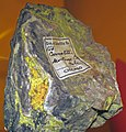 Carnotite in sandstone (Montrose County, Colorado, USA) 1 (23162057079).jpg