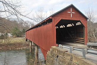 National Register of Historic Places listings in Barbour County, West Virginia - Image: Carrollton Covered Bridge
