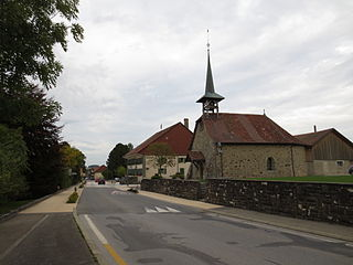 Jorat-Mézières Place in Vaud, Switzerland