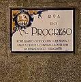 Cartelón-homenaje a la carretera Villacastín-Vigo en la calle del Progreso en Orense.jpg