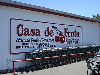 """Casa de Fruta - The """"Casa de Fruta"""" sign on the outside wall of the building"""