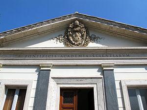 Pontifical Academy of St. Thomas Aquinas - Image: Casino di pio IV, edificio principale 02 stemma