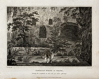 Frederick Rudolph Hay - Etching of Edward Daniel Clarke's Castalian Spring at Delphi