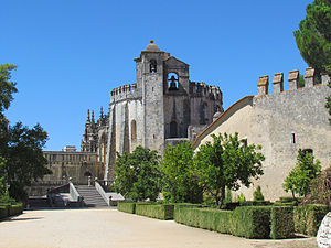 Convent of Christ (Tomar) - The main church of the Convent of Tomar constructed by the Knights Templar