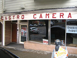 Castro Camera - Castro Camera storefront, as recreated for the 2008 film Milk
