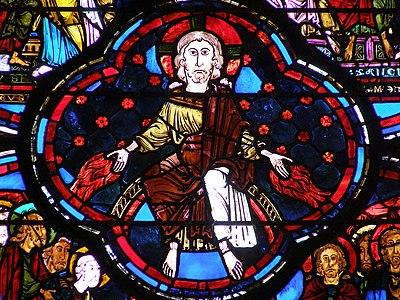 Cathédrale de Bourges - Détail du vitrail de l'Apocalypse (début XIIIème siècle)