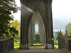 Cathedral Park, Portland, Oregon - Image: Cathedral Park St Johns Bridge Portland Oregon