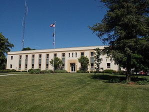Das Cedar County Courthouse in Tipton