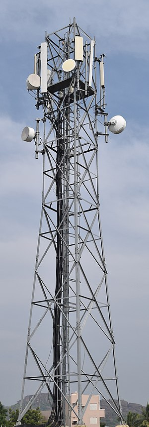 Cell site - Image: Cell tower tdocomo