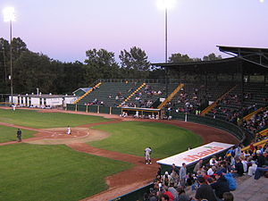 Vermont Lake Monsters - The grandstand at Centennial Field