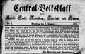 Centralvolksblatt Erstausgabe 1. Januar 1856.png