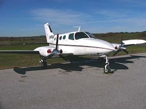 Death of Aaliyah - A Cessna 402 similar to the one that crashed