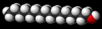 Cetyl alcohol - Image: Cetyl alcohol 3D vd W