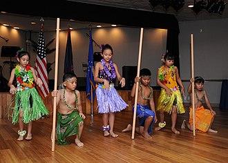 Culture of Guam - Chamorro dance presentation by school children