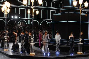 Fashion show - Example of an elaborate stage set used for the Chanel Haute Couture Fall-Winter 2011 show