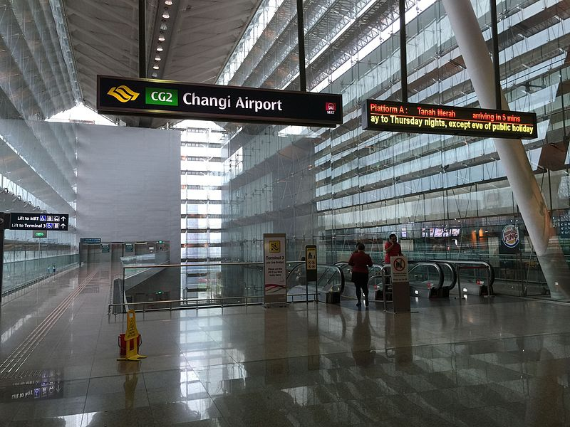 File:Changi Airport MRT Station (EWL - Changi Branch) - Exit A.jpg