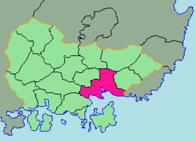 Location of Changwon