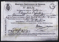 Charles Frederick Barker's certificate of Master's service.png