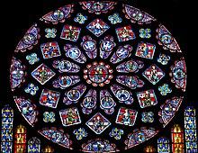 Rosone del lato nord della cattedrale di Chartres