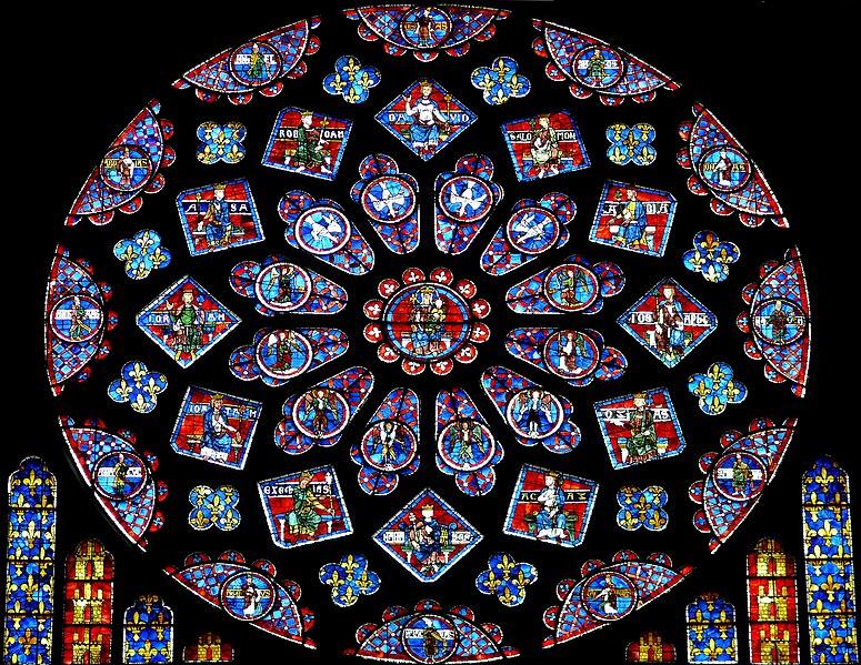 Vitrail et autres vitraux. 775px-Chartres_-_Rose_du_transept_Nord_-2