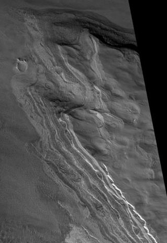 Chasma Boreale - Image: Chasma Boreale Streamined Feature