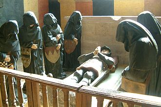 Pleurants - recreation of the Pleurants of Philippe Pot in Chateauneuf