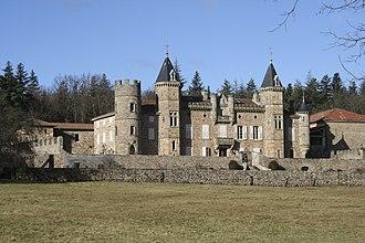 Alboussière - Image: Chateau crozat 1