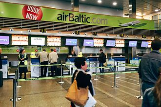 AirBaltic - airBaltic Check-in area in Riga