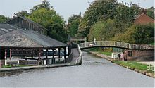 Chester Canal basin, near the junction between the Chester Canal and the River Dee