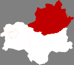 Location in Fushun City