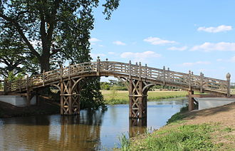 William Halfpenny - The recreated Chinese Bridge at Croome Court, to Halfpenny's design