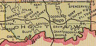 Choctaw County, Oklahoma - Map of Choctaw County, 1909
