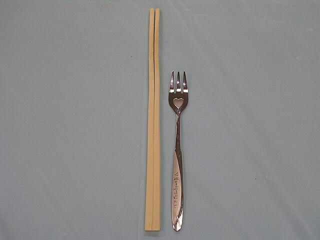 http://upload.wikimedia.org/wikipedia/commons/thumb/e/e1/Chopsticks_and_fork.JPG/640px-Chopsticks_and_fork.JPG