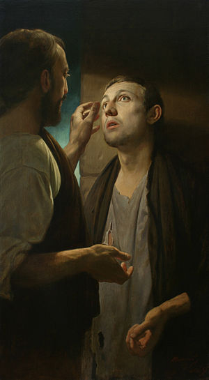 Blind man of Bethsaida - Christ Healing the Blind Man by A. Mironov.