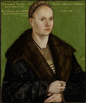 Christoph von Scheurl - Christoph von Scheurl, portrait by Cranach the Elder