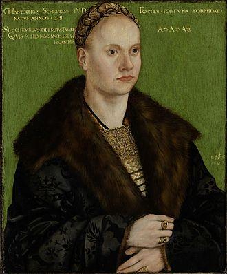 Christoph von Scheurl - Christoph von Scheurl, portrait by Cranach the Elder