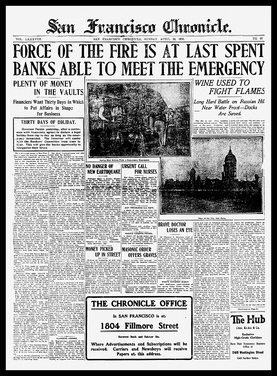 Chronicle-Cover-22April1906