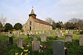 Church of St Thomas, Upshire, Essex, England - and graveyard from the south-west.jpg