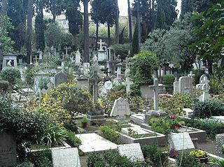 Protestant Cemetery, Rome cemetery in Rome, Italy; located near Porta San Paolo
