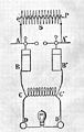 Circuit diagram of d'Arsonval's high frequency apparatus. Wellcome M0014860.jpg