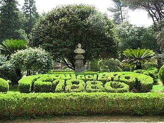 """Cittanova - Villa """"Carlo Ruggiero"""" (entrance)."""