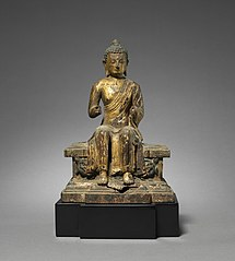 Figure of a Maitreya on a Tiered Pedestal