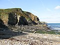Cliffs, west side of Aber Draw beach - geograph.org.uk - 1517056.jpg